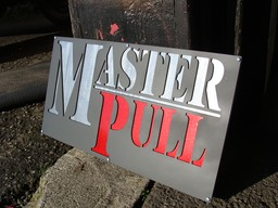 Aluminum & Steel Sign for Master Pull